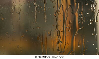 Rainy Window Background - A close up of a water on glass...
