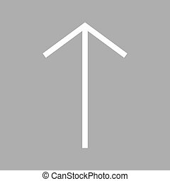 Up , Arrow - Arrow, up, pointer icon vector image. Can also...