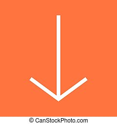Down , Arrow - Arrow, down, pointer icon vector image. Can...