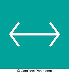 Left-Right - Arrow, left, right icon vector image. Can also...