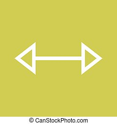 Left-Right II - Arrow, left, right icon vector image. Can...