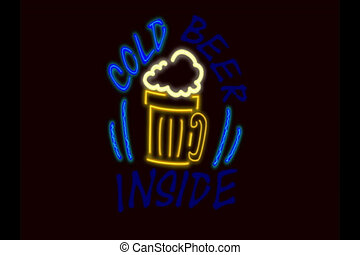 NLP Cold beer sign v1 - Based on my fun traditional type pub...