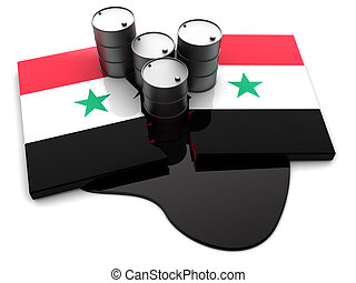 Syria conflict - 3d illustration of Syria conflict concept