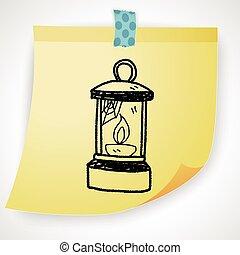 Oil lamp doodle