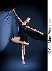 professional dancer - Graceful beautiful ballet dancer...