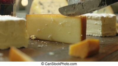 Cutting a Serving from the Cheese