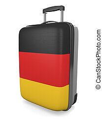 Germany travel suitcase - Germany vacation destination...