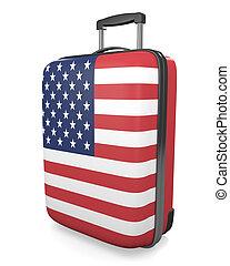 United States travel suitcase - United States vacation...