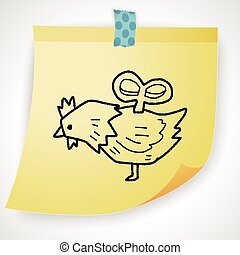 toy chicken doodle