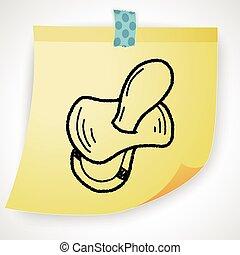 pacifier doodle