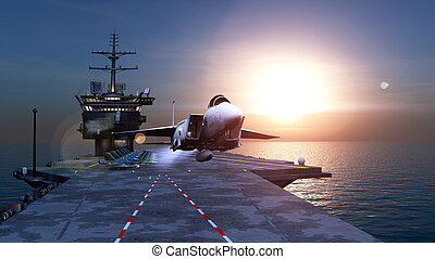 Carrier - Image of carrier and sea