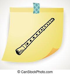 Flute doodle