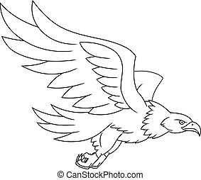 Flying eagle illustration - Illustration of the flying eagle...