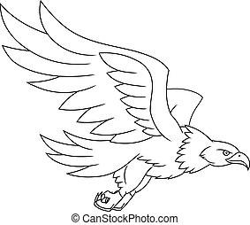 Flying eagle illustration - Illustration of the flying eagle...