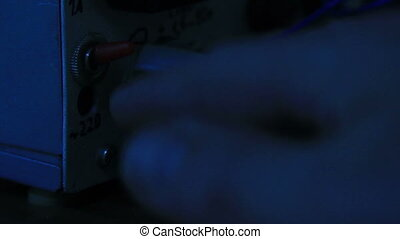 Turning The Light Switch. - Turning the light switch. The...