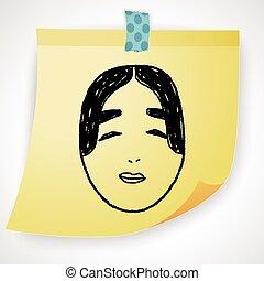 japan mask doodle