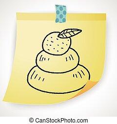 japanese new year cake doodle
