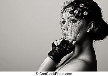 Beautiful Teenage Girl in Veil
