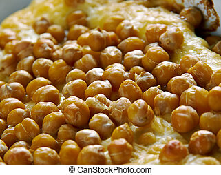 Hot Algerian Lasagna with chicken and chickpeas.African...