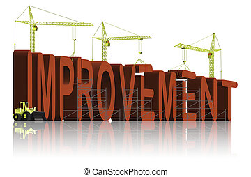 making improvement - tower cranes building 3D word...