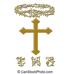 Religious Easter - I have sufferd cross and crown of thorns