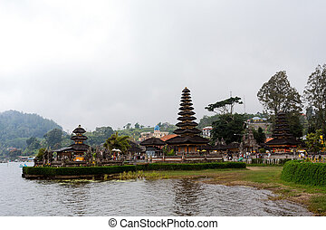 Pura Ulun Danu water temple on a lake Beratan Bali - Most...