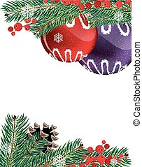 Christmas baubles with pine cone - Christmas ornaments with...