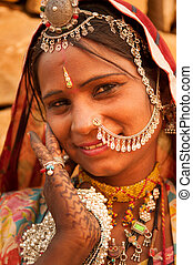 Portrait of traditional Indian woman - Beautiful Traditional...