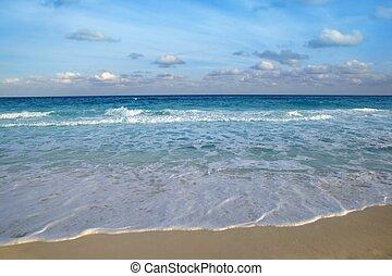 藍色, 綠松石, 加勒比海, 熱帶, 海, 海灘