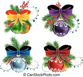 Christmas ornaments - Set of Christmas and New Year's...