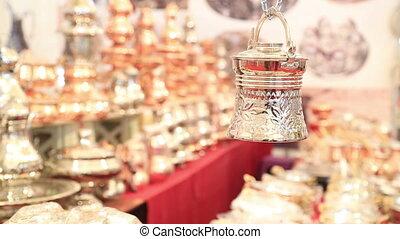 Copper, silver kitchenware