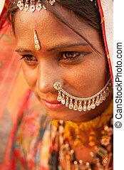 Traditional Indian woman portrait - Portrait of traditional...