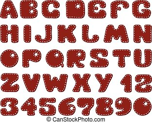 Funny alphabet for scrapbooking
