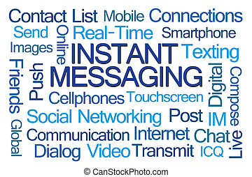 Instant Messaging Word Cloud on White Background