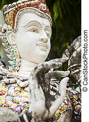 White Thai Statue - Image of a white statue popular in...