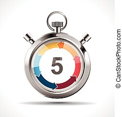 Stopwatch - countdown concept - 5 minutes