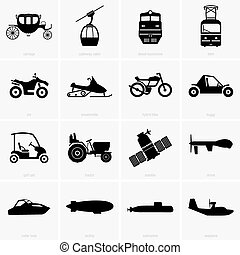 Vehicles and transportation - Set of Vehicles and...