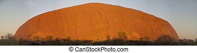 Ayers Rock, Australia - Ayers Rock Lights at Dawn, Australia