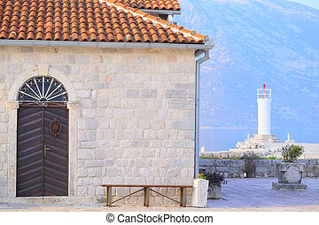 Perast - The old buildings in Perast, Montenegro