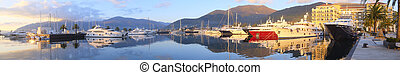 Tivat harbour - Panorama with the image of a Tivat harbour