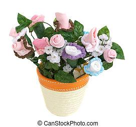 Baby Sock Flower Pot