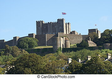 Dover Castle in Kent, England - Dover Castle in Dover, Kent,...