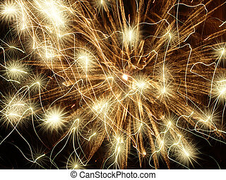 Golden holiday stars abstract background. - Golden holiday...