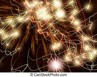 Golden stars abstract background - Golden holiday stars...