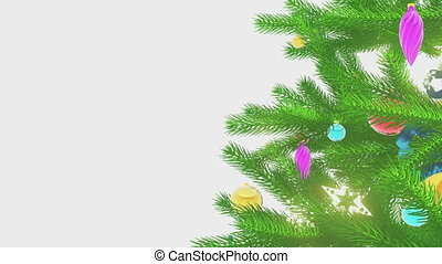 Christmas tree motion background - Loop able motion...