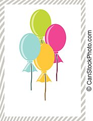 Colorful balloons, isolated vector graphics for your design