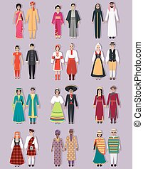 Set of National Costumes Design - Set of national costumes...