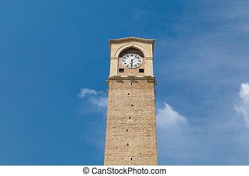 Adana Clock Tower - Bottom view of Adana Clock Tower which...
