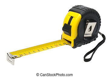 yardstick - Black and yellow yardstick on a white...
