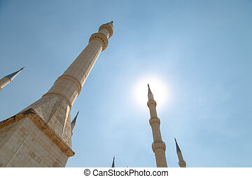 Sabanci Mosque - Exterior bottom view of Adana Sabanci...